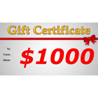 Gift Certificate $1000.00