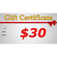 Gift Certificate $30.00