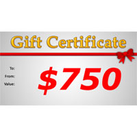 Gift Certificate $750.00