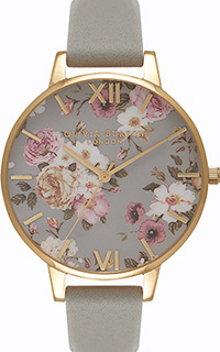 Olivia Burton Flower Show Big Dial Grey & Gold Watch
