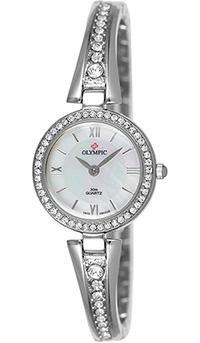 (RETIRED) Olympic Ladies IPS Plated Stone Set Watch Dial