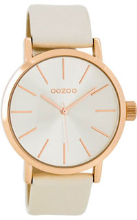 OOZOO 40mm rose gold case / rose gold on brushed champagne / cha