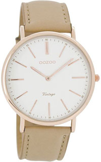 OOZOO 40mm rose gold case / rose gold on white / sand