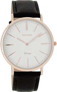 OOZOO 40mm rose gold case / rose gold on white / black