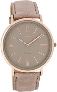 OOZOO 40mm rose gold case / rose gold on grey / pink-grey