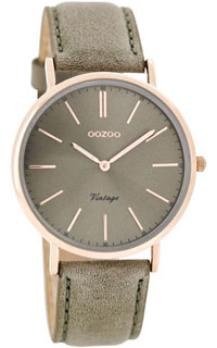 OOZOO 36mm rose gold case / rose gold on taupe grey / taupe grey