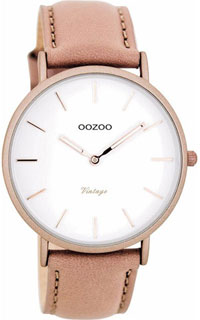 OOZOO 40mm matt dusty pink alu case / rose gold on white / dusty