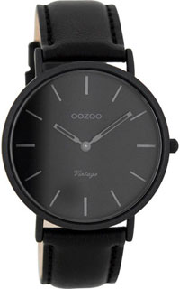 OOZOO 40mm matt black alu case / dark-grey on black / black