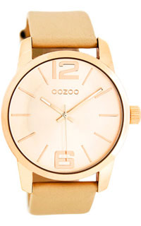 OOZOO 43mm rose gold case / rose gold on brushed sand / sand