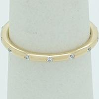 DANISH 14ct Gold Sparkling Droplets Ring