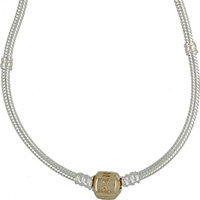 (RETIRED) DANISH Sterling Silver Necklace with 14ct Gold Clasp