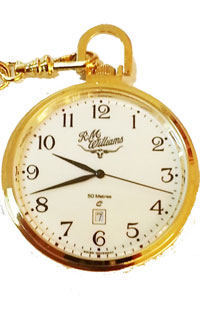 Fob Watch and Chain Gold Colour