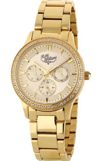 Kydra Multi Dial Watch Gold Plated Cubic Zirconia