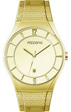 Mizzano Mens Watch Gold Plated with Mesh Bracelet