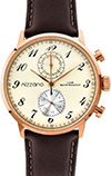 Mizzano Mens 30m Rose Multifunction Watch Brown Strap