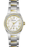 Mizzano Ladies Watch Two tone Gold and Steel Diamond Dial