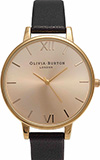 Olivia Burton Big Dial Black and Gold Watch