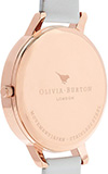 Olivia Burton Big Dial White and Rose Gold Watch