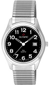 Olympic Gents Steel Classic Watch Black Dial
