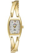 Olympic Ladies Gold Watch with Cross Over Bracelet