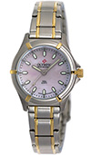 Olympic Ladies 2 Tone Work Watch Pink Mother Of Pearl Dial