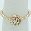 PANDORA 14ct Gold Radiant Elegance Feature Ring