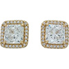 DANISH 14ct Gold Timeless Elegance Stud Earrings