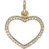 (RETIRED) 14ct Gold Compose Heart Pendant with Diamonds