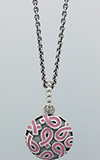 (RETIRED) PANDORA Silver Pendant with Pink Enamel