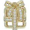 DANISH 14ct Gold All Wrapped Up Openwork Charm