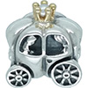 DANISH Silver and 14ct Gold Bead Royal Carriage