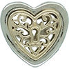 DANISH Locked Hearts Openwork Charm