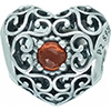 PANDORA January Signature Heart Charm