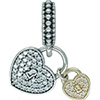 DANISH Love Locks Hanging Charm